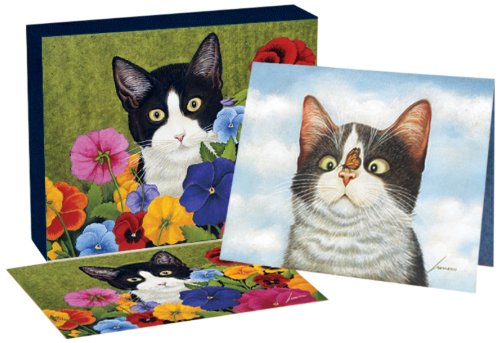 Lang American Cat Deluxe Note Card Set by Lowell Herrero,