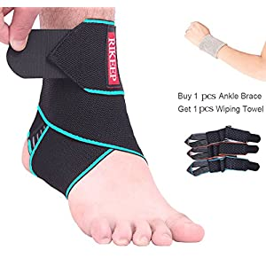 Ankle Support,Adjustable Ankle Brace Breathable Nylon Material Super Elastic and Comfortable,1 Size Fits All, Protects Against Chronic Ankle Strain, Sprains Fatigue