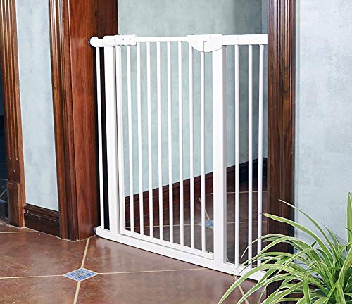 Best Review Of WCBIN Extra High Baby Gate 120cm Automatic Close Baby Pet Isolated Gate Fence Cats an...