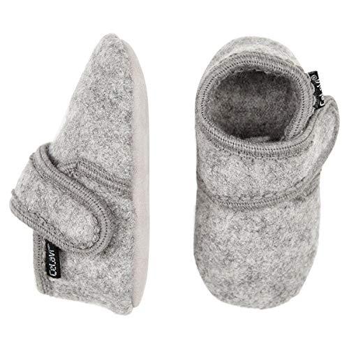 CeLaVi Unisex-Baby Wool First Walker Shoe, Grey Melange, 23-24EU