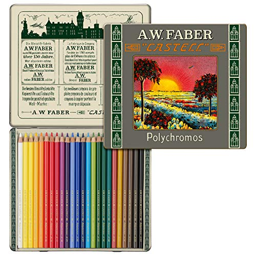 Faber Castell Limited Edition 111TH Anniversary–Tin di 24matite Polychromos Artists '