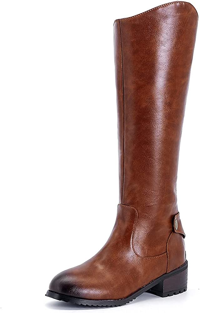 Womens Cowgirl Western Mid Calf Be super welcome Heel Bac High quality new Boots Chunky Square-Toe