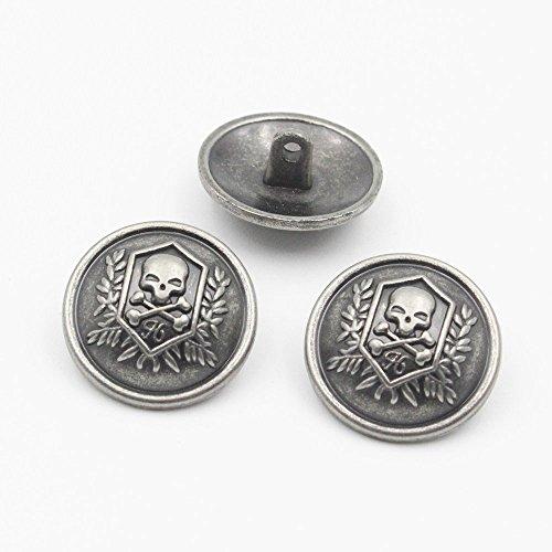 10Pcs Bottoni Vestiti - Bottoni in Metallo Bottoni Gambo Bottoni Sagomati per Blazer, Completi, Cappotto, Divisa, Giacca (25mm)