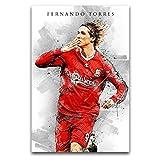 Sport-Fan-Poster, Fernando Torres, Kunst, Wanddekoration,