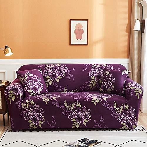 ASCV Funda de sofá elástica para Sala de Estar Funda de sofá elástica seccional Funda de sofá en Forma de L Funda de sillón de Esquina A6 2 plazas
