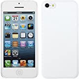 PhoneNatic Coque Rigide Compatible avec Apple iPhone 5c - gommée Blanc - Cover...