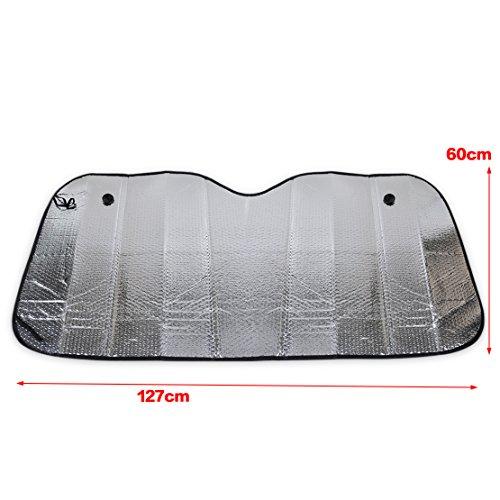 Coche plegable Parasol Shield trasero/delantero parabrisas reflectante calor cubierta