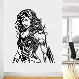 yaonuli Wonder Woman Heroes Dormitorio Calcomanía Arte de la Pared Vinilo Sala de Estar Espacio Etiqueta de la Pared 87X61cm