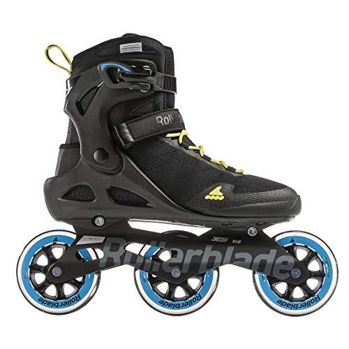 Rollerblade Unisex– Erwachsene Sirio 100 3WD Inline-Skate, Black/Process Blue, 285