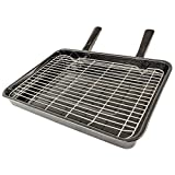 Spares2go Large Vitreous Enamel Grill Pan - Universal for All Makes and Models