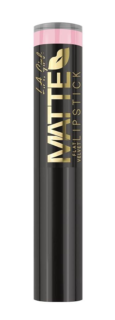 怒っている猛烈なナビゲーションL.A. GIRL Matte Flat Velvet Lipstick Carried Away (並行輸入品)
