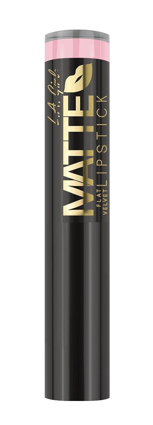 パノラマ肺三角L.A. GIRL Matte Flat Velvet Lipstick Carried Away (並行輸入品)