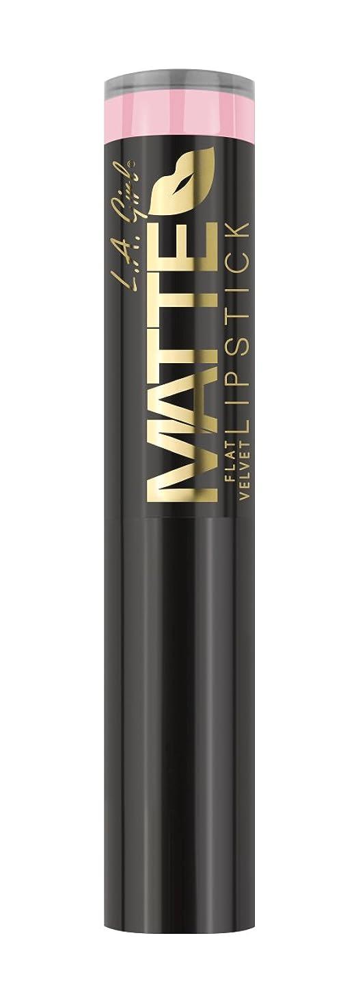 ギャング安全でない宣教師L.A. GIRL Matte Flat Velvet Lipstick Carried Away (並行輸入品)