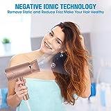 Föhn Ionen Technologie, CONFU 1800W Reisefön Klein und Leicht Profi Haartrockner Schnell Trocken Haarfön mit StylingDüse, 2 Geschwindigkeit, Warm und Kühl Wind - 3