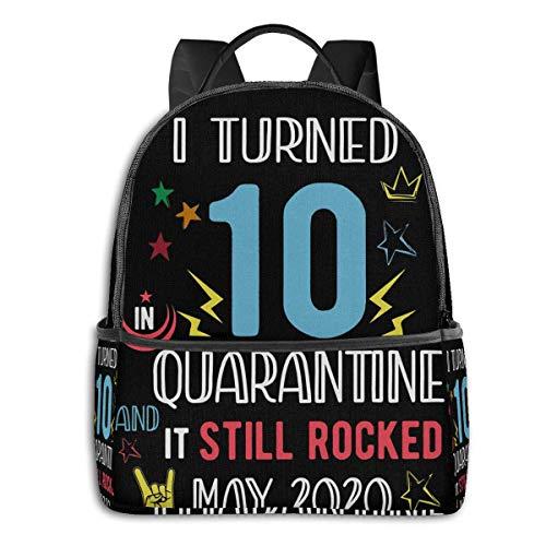 Adhyr Décimo cumpleaños Nacido en 2010 Cumplí 10 años en cuarentena Todavía se lució en Mayo de 2020 Mochila Black Edge para Estudiantes