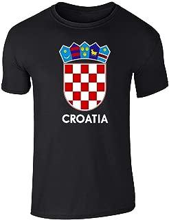 Croatia Soccer National Team Football Crest Retro Short Sleeve T-Shirt