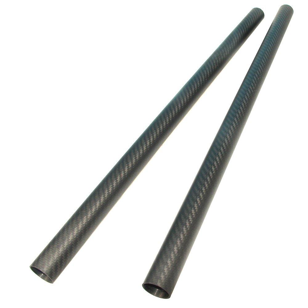 4pcs Carbon Fiber Tube 12mmx10mmx420mm 3K roll Wrapped Twill Matte Finish