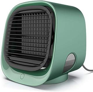 LYCXIAO Mini Aire Acondicionado portátil purificador de humidificador multifunción purificador de Aire de Escritorio USB Ventilador sin Hojas con Agua Home-Green