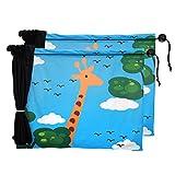 Chilsuessy 2 Stk Sonnenschutz Auto Universal Baby Sonnenblende Schutz für Kinder in Babyschale, Seitenscheibe Autosonnenschutz, Giraffe