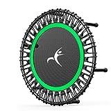 HXZ Erwachsene Mini Trampolin, Fitness Trampolin, leise und stabil hüpfend, geeignet für Kinder Erwachsene Sport Trampolin Indoor und Outdoor Sport, maximale Belastung 500 kg 101,6 cm grün
