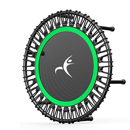 HXZ - Mini trampolín para adultos para fitness y fitness (capacidad de carga máxima de 500 kg), verde, 40 pulgadas