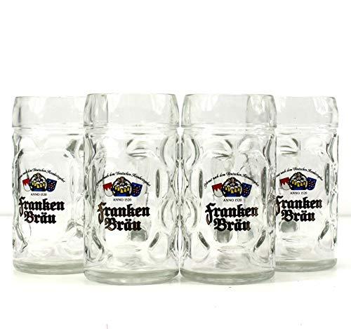Franken Bräu Gläser 4x0,5l Isar Bier-Seidel ~mn 1107 1134