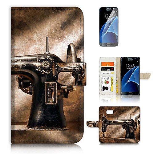 ( For Samsung S7 , Galaxy S7 ) Flip Wallet Case Cover & Screen Protector Bundle - A20136 Sewing Machine