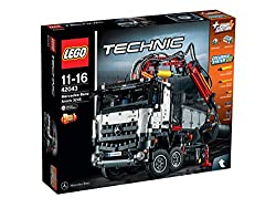Includes LEGO Power Functions large motor and an advanced pneumatic system for an array of motorized features Including extendable outriggers, automated crane arm and grabber 2 suspended front axles with twin axle steering, 2 suspended rear axles wit...