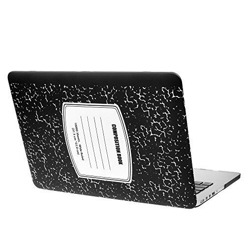 MacBook Pro 13 inch Case Cover A1502 A1425 Composition Plastic Laptop Hard Shell Cover Sleeve Matte Rubberized (2012 2013 2014 2015 Release) with Silicone Keyboad Cover and Dust Brush-Black Notebook