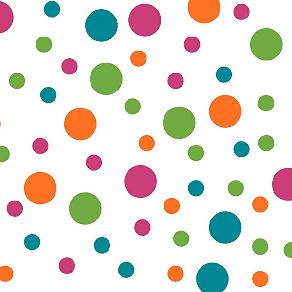 Hot Pink Lime Green Orange Turquoise Vinyl Wall Stickers 2 4 Inch Circles 60 Decals