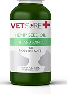 VetSure+ Hemp Oil for Dogs,Hemp Oil for Cats, Dog Anxiety Relief, (100% Safe) Joint Pain Supplement, Hemp Extract Oil, Anxiety Relief, Arthritis Pain, Hip and Joint Pain, Made in USA.'