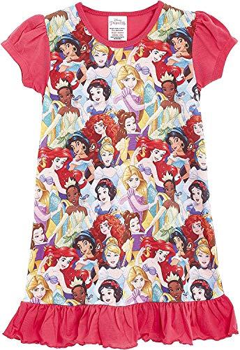 Camicie da notte per bambine a tema personaggi Disney, Re Leone, Aladdin, Cenerentola, Paw Patrol, La Sirenetta | Prodotto Ufficiale per bambini, abbigliamento da notte Principessa 7-8 Anni