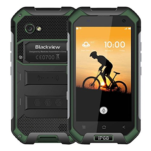 Blackview BV6000, RAM 3GB+ROM 32GB 4G IP67 Waterproof Smart Phone 4.7 inch Corning Gorilla Glass 3 Screen Android 6.0 MT6755 Octa-core 2.0GHz, Dual SIM (Green) by Blackview