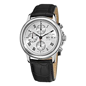Stuhrling Prestige Men's 362.33152 Prestige Swiss Made Automatic  Valjoux 7750 Accolade Chrono Automatic Silver Watch image