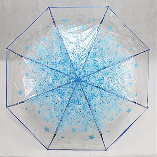 MUYAO Paraguas Plegable Transparente Paraguas De Flores Romántico Regalo Lluvia Y Paraguas De Lluvia Paraguas De Novia
