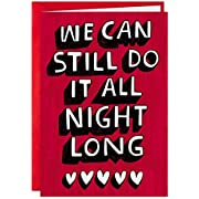 Hallmark Shoebox Funny Valentines Day Card for Significant Other (All Night Long)