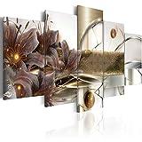 murando Cuadro Acústico Abstracto Flores 200x100 cm XXL Impresión Artística 5...
