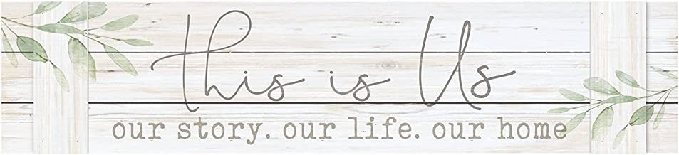 P. GRAHAM DUNN This is Us Our Life Home Whitewash 47 x 10.5 Inch Pine Wood Pallet Wall Plaque
