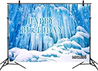 HD Dream World Ice Snow Backdrops for Photography 10x7ft Winter Crystal Snowflake Scene Kids Children Birthday Photo Background Customized Photo Booth Props