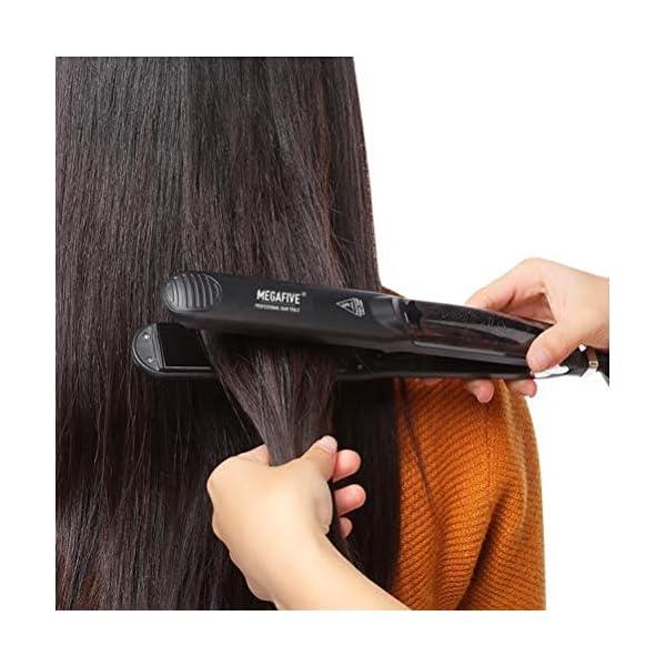 Plancha de pelo profesional a vapor – placas alisadoras de cerámica