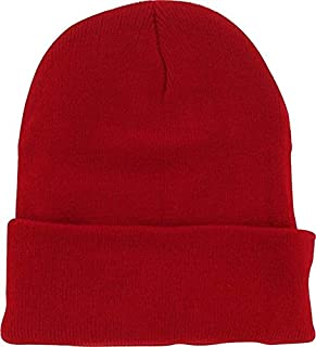 daa9b17abdec2 DealStock Plain Knit Cap Cold Winter Cuff Beanie (40+ Multi Color Available)