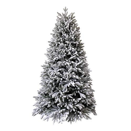 XONE Albero di Natale Kennedy INNEVATO 210cm   Pino Realistico ed Elegante con Neve   Abete in PE Effetto Real Touch + PVC Altissima qualità + Flock