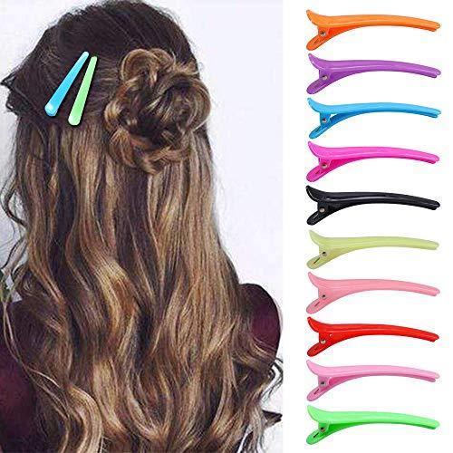 30 pezzi fermagli per capelli denti di anatra fiocchi barrette di plastica multicolore professionale disegno antiscivolo fermagli per capelli coccodri