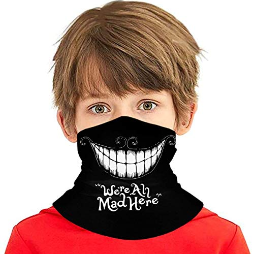 Bandanas de dibujos animados para niños, divertidas, lindas, para la cara, protección UV, para el cuello, para niños, niñas, polainas para el cuello, pasamontañas, sonrisa, talla única