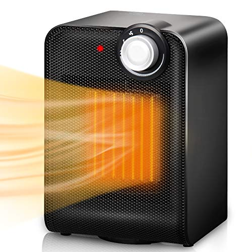 Great Deal! Portable Ceramic Space Heater, 1500W Fast Heating with Oscillating Function, Overheating...