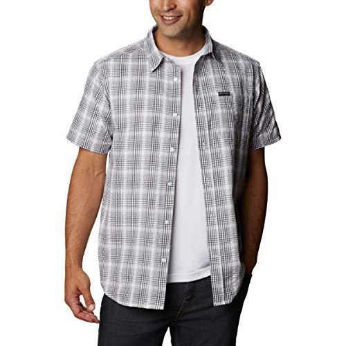 Columbia Brentyn Trail Camisa de Manga Larga, Hombre, City Grey Seersucker, M