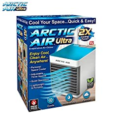 AIR COOLER: The Arctic Air Ultra is a portable air conditioner that cools, humidifies & purifies. This personal space cooler features three fan speeds & a multi-directional air vent. QUIET & PORTABLE: The lightweight & whisper-quiet fan plus soothing...