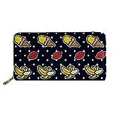 Moda De Impresión Señoras Billetera Gran Bolso Soft PU Monederos Multi Tarjeta De Crédito Embrague De Las Mujeres Monedero con Cremallera Banana Ice Cream