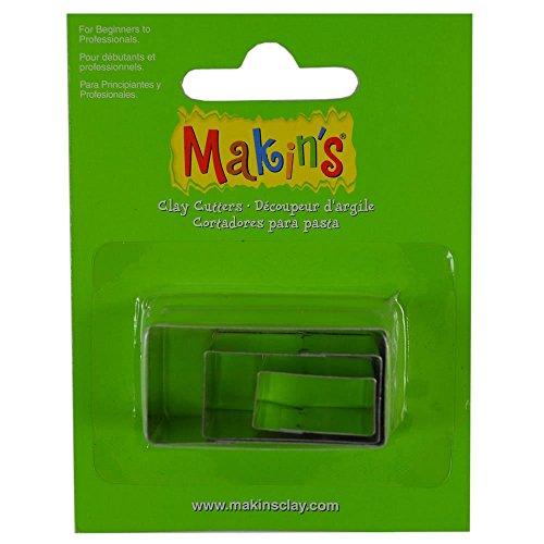 Makins rechthoek gevormde snijders voor polymeer klei Pmc Fondant Icing Marsepein Etc 4,3 & 2