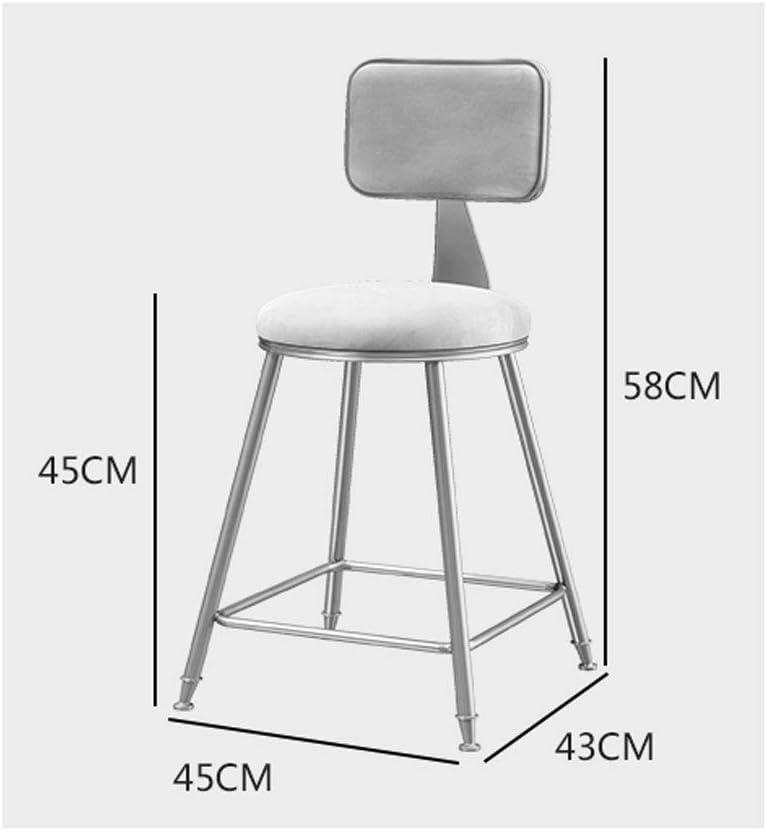 Président WGZ- Chaise de Salle à Manger Casual Chaise de Bar Chaise de café avec Dossier à Coiffeuse Chaise de Bar Simple (Color : B) F
